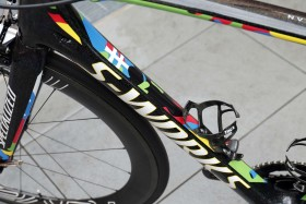 3 October 2015 Bike of SAGAN Peter (SVK) Tinkoff - Saxo Photo : Yuzuru SUNADA